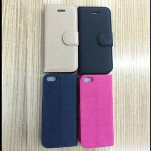 Tejido manera carpeta de cuero de la bolsa para el Iphnoe 7 Samsung Galaxy S8 Plus Marple Dot soporte del teléfono de la piel TPU cubierta de lujo del caso del envío libre de DHL