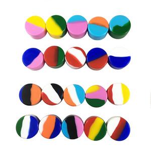 En iyi Silikon Kavanoz Konteynerleri 5ML Olmayan Katı Renkler 20 Renk 5 ML Silikon Kavanoz Mum Olmayan Katı 5ML Silikon Konteynerleri DHL / UPS
