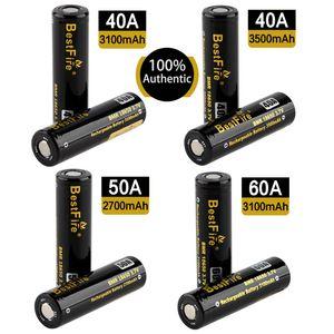 100 ٪ أصيلة BestFire BMR 18650 2700/3100/3500mAh 40/50/60A 3.7V بطارية ليثيوم عالية التفريغ الأصلي دي إتش إل الحرة