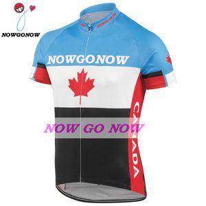 custom 2017 cycling jersey men 캐나다 팀 의류 바이크 착용 nowgonow 레트로 저지 프로 경주 ropa ciclismo mtb road bicicleta