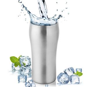 Tazas de cerveza de acero inoxidable de pared doble de 430 ml Copas grandes de pinta Taza de café Tazas de bebida con aislamiento al vacío