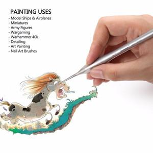 Holz Pinsel 7 Stücke Premium Qualität Miniatur Haken Linie Pinsel Set Für Zeichnung Gouache Ölgemälde Pinsel Kunst Liefert