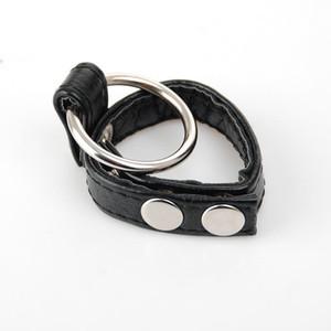 Взрослые принадлежности, черные ремни мошонки кабала, регулируемый кожаное кольцо пениса Cock кольцо, мужчина целомудрие устройство, Шаровые Носилки, Эротический секс игрушка