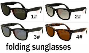 الصيف العلامة التجارية الأحدث الأزياء في الهواء الطلق نظارات شمسية للرجال والنساء الرياضة للطي نظارات الشمس الإطار الأسود النظارات الشمسية 4 ألوان شحن مجاني
