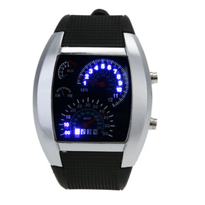 Speedometer Watch Men LED Watch Sports Watches for Men Rubber Wristwatch Digital Watch dijital kol saati relogio