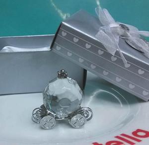 Bridal Shower Souvenirs invités Crystal Pumpkin Coach Carriage Crystal Crystal Cadeaux Faveurs pour les invités souvenir 100pcs