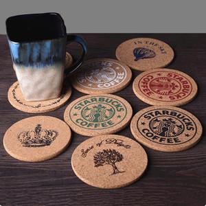 Tasse de café Tapis Produits en bois Style rétro Boisson Boisson Thé Coaster Table Décor Isolation thermique Pad Multi Style En Option 1 8zw F R
