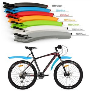 MZYRH Bike Bicycle Road Front Rear Mudguard Fender Mud Guard Accessories 1 Pair Extended Edition With Taillight LED wholesale