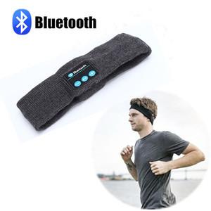 Inalámbrico Bluetooth Música Diadema Sombrero hecho punto Para mujer para hombre Deportes Correr Fitness Skull Caps Yoga Stretch Headset Caps