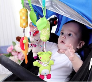 50pcs DHL UPS  FEDEX Free shipping Baby Stroller Plush Bell Toy Infant Soft Plush Bed Bell Toys MYP 010