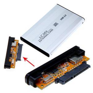 2.5 인치 USB 2.0 HDD 케이스 하드 드라이브 디스크 SATA 외장형 스토리지 인클로저 박스 소매 박스 팩 DHL 무료 배송