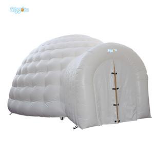 Günstige Preise Oxford Stoff oder PVC-Plane-Material aufblasbare Weiß Blase Camping Kuppelzelt mit einem Tunnel