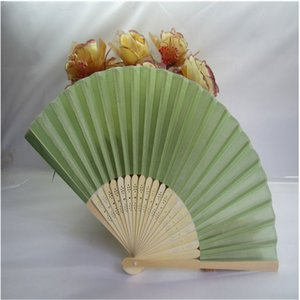 Hand Fan White Folding Bamboo Silk Handmade Fans For Party Ancient Wind Outdoor Photography Props Wedding Present With Organza Bag