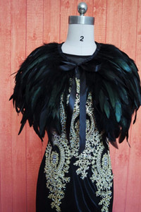 Black Fur Wedding Shrug Cape Bleu Wedding Party Boléro Wrap Rouge Nouveau Bridal Châle Sur mesure taille