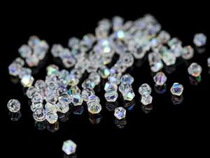 Beads 300pcs di colore di ab Bicone per monili che fanno Perle di vetro decorativo di cristallo di perline fai da te materiali 4 6 8 millimetri