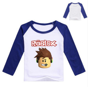 2017 Autumn Long Sleeve T-shirt For Girls Roblox Shirt Yellow Blouse For Boys Cotton Tee Sport Shirt Roblox Costume For Baby Boy