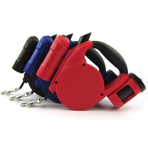 Newly Pet Dog Retractable Leash LED Bolsa de limpieza ligera para pequeños productos de cuello de perro medio Arnés Strong Chain 3 colores 5M