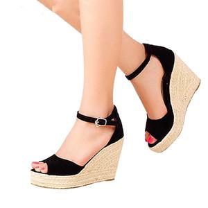 Moda de calidad superior cómodo sandalias bohemias mujeres sandalias para zapatos de mujer plataforma alta punta abierta más tamaño
