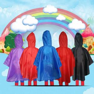Superhéroe Impermeable niños de Dibujos Animados Impermeable Capa de Lluvia Ropa de lluvia para niños Navidad Cosplay de Halloween Capa de Capa de Lluvia Capa
