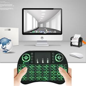 Rii I8 + Retroilluminazione wireless Mini tastiera Air Mouse Telecomando multimediale con touchpad palmare per S905X S912 TV Box TX3 Pro X96 T95