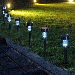 Sıcak satış 1 adet Paslanmaz çelik Güneş çim bahçe ışık için 100% güneş enerjisi Açık güneş lamba luminaria