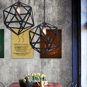 Industrielle Edison Suspension Pendant Lustres Éclairage Pendentif Plafond Led Pendentif Lumière Grande Taille Art Déco Cage Lampe Garde En Métal