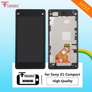 Sony Z1 Kompakt / Z3 Kompakt / Z5 Kompakt LCD Ekran Dokunmatik Ekran Digitizer / Çerçeve olmadan Tam Konut Siyah Beyaz için Yüksek Kalite