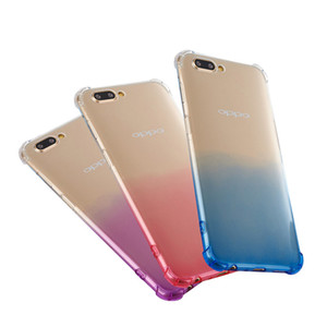 For iphone X iphone 5 6 7 8 Plus Shockproof Slim Color gradient Soft TPU Transparent Phone Case