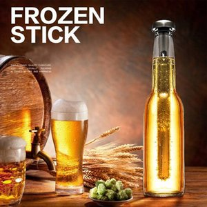 Bouteille de refroidisseur de vin de glace en acier inoxydable avec outil de barre de refroidisseur de bière
