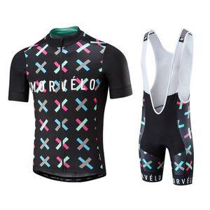 2017 yeni Yaz Morvelo bisiklet Jersey ve önlüğü şort 3D jel ped bisiklet giyim ropa ciclismo önlüğü seti mix boyutu E1903 kabul