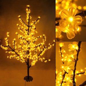 2 м / 6,5 фута высота на открытом воздухе искусственной елки из светодиодов вишневого дерева свет 1150 шт. Светодиоды прямой ствол дерева бесплатная доставка из светодиодов свет Tre