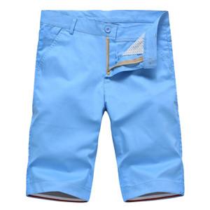 Großhandels-WOQN Kurzschlüsse Männer 201 Sommer Lässige Shorts Männer Mode Baumwolle Slim Masculina Herren Strand Shorts Bermuda Hosen Knielangen Shor