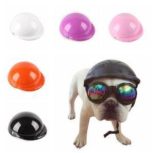 Animali belli Biker Dog Hat Caschi Sbarazzarsi Cappellino Puppy Moto Protect