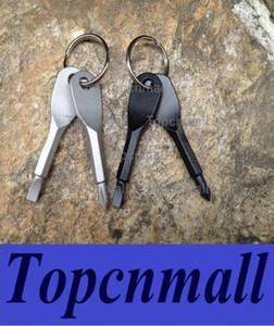 Multifunktionale Taschen-Werkzeug-Schlüsselanhänger Outdoor-EDC-Gang Schlüsselanhänger mit Schlitz Phillips Kopf Schraubendreher-Satz Mini Schlüsselanhänger topcnmall-008