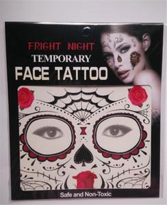패션 디자인 공포증의 밤 일시적인 얼굴 문신 바디 아트 체인 전송 문신 임시 스티커 재고 있음 9 스타일