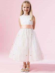 O 넥 볼 가운 Tulle Flower Girl Dresses 아플리케 2017 사용자 정의 만든 아름 다운 드레스 파티 드레스 멋진 디자인 파티 드레스