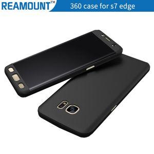 Cobertura total de 360 graus com protetor de tela de vidro temperado híbrido caso capa protetora para samsung s7 borda caso de telefone móvel