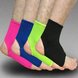 Wholesale- 1PCS Breathable Adjustable-Sport-elastische Knöchel-Stütz Sport Sicherheit Gym Badminton Basketball Knöchelbandage Unterstützung HJ004