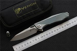 VENOM 4 Flügel Kevin John S35VN SOLID Titan Flipper klappmesser keramik kugellager camping jagd taschenmesser EDC werkzeuge