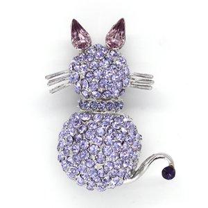 12 шт./лот Оптовая Кристалл Rhinestone Cat броши мода одежда Pin брошь ювелирные изделия подарок C361