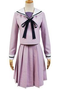 Kukucos Anime Noragami Iki Hiyori vestido uniforme de marinero púrpura Cosplay regalo para la fiesta de Halloween vida cotidiana
