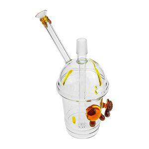 8 pulgadas de altura Dab Concentrado Aceite Rig Cheech Glass Honey Cup Tubería de agua de vidrio 18.8mm conjunto macho
