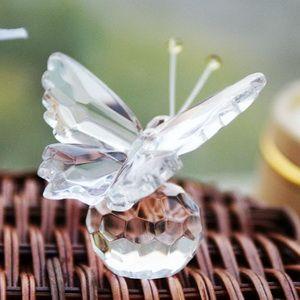 50 adet seçenek kristal Koleksiyonu Değerli K9 Kristal Kelebek Biblo Bebek Vaftiz Hediye WeddingBridal Duş ÜCRETSİZ GÖNDERİM Yana