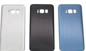 per Samsung Galaxy S8 G950 / S8 Plus G955 Vetro Posteriore Posteriore Coperchio della batteria Coperchio di ricambio Parti di riparazione + Adesivo