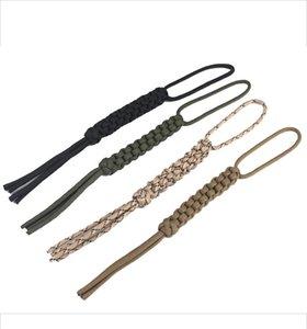 Envío gratis 4 unids / lote cuerda de cuchillo hecho a mano paracord cuerda de linterna cuchillo cuchillo cuerda cuerda de seguridad cuerda