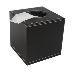 Gros- Jamais Parfait Carré En Cuir PU Rouleau De Tissu Serviette Toilette Boîte De Papier Toilette Distributeur Décoration de La Maison Brun Couleur A037