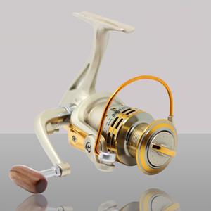 Carretilhas de pesca de Alta Qualidade Cabeça De Metal Vara De Pesca Telescópica Spinning Reels Roda Para Bobina De Peixe Ser Mesmo Qualidade Sinta-se Suave 34 sl J1