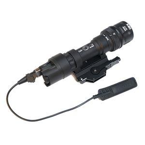 SF M952V-IR LED 총 흰색 빛 및 IR 출력 전술 손전등 표시 된 버전 블랙