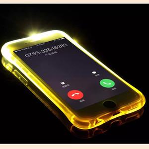 tpu + pc led فلاش تضيء حالة تذكير تغطية مكالمة واردة ل فون xs ماكس xs xr 8 7 سامسونج s9 s8 واضح شفاف الجلد 100 قطع