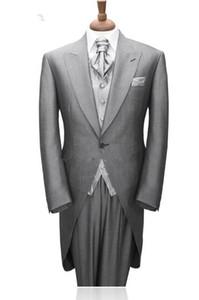 Tailcoat Morning Style Custom-tailor Tuxedos Marié Meilleur Man Costumes De Mariage Homme Dîner De Bal Costumes Sur Mesure (Veste + Pantalon + Gilet)